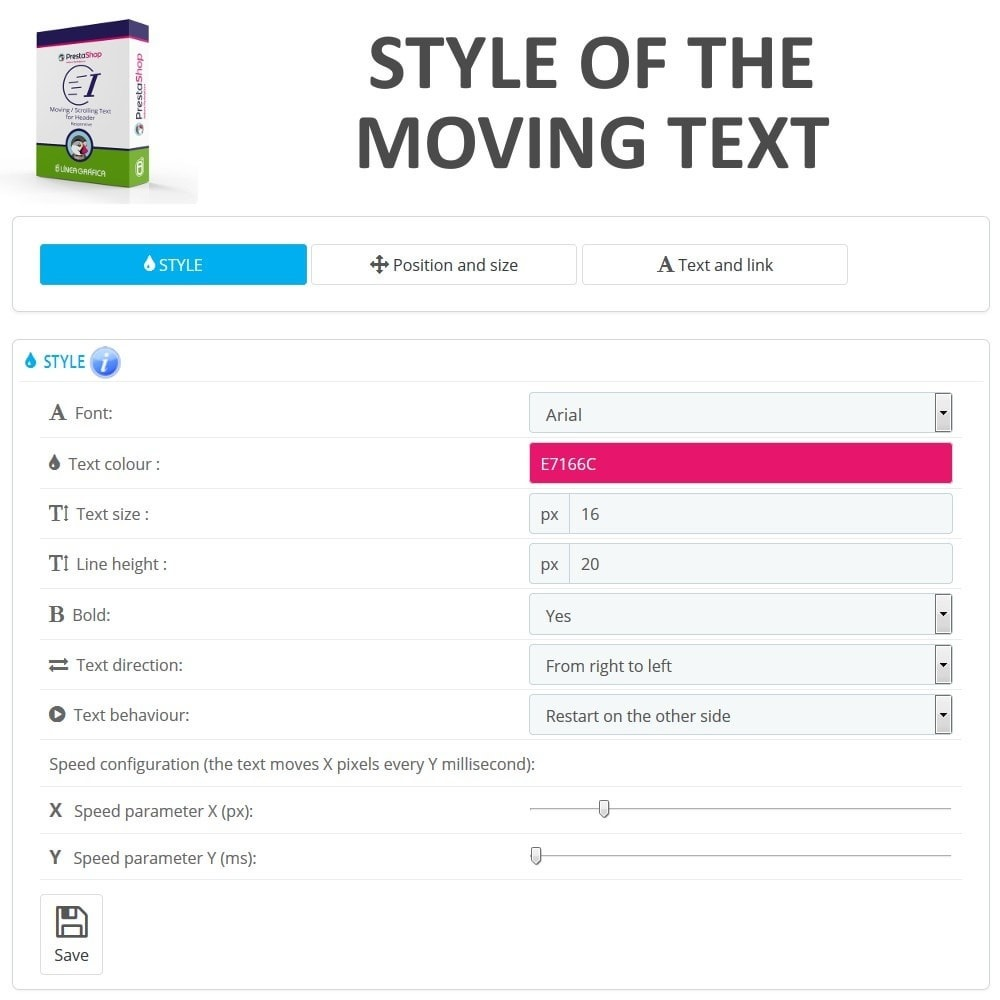 module - Blocks, Tabs & Banners - Moving / Scrolling Text for Header - 3