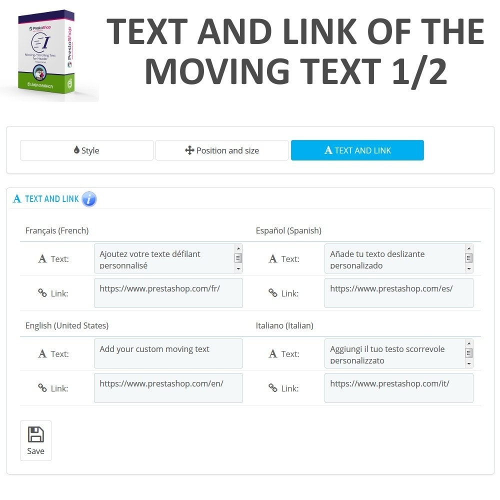 module - Blocks, Tabs & Banners - Moving / Scrolling Text for Header - 7