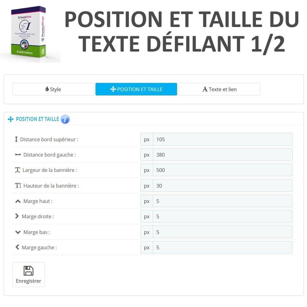 module - Blocs, Onglets & Bannières - Texte Défilant avec Lien pour En-Tête - 5