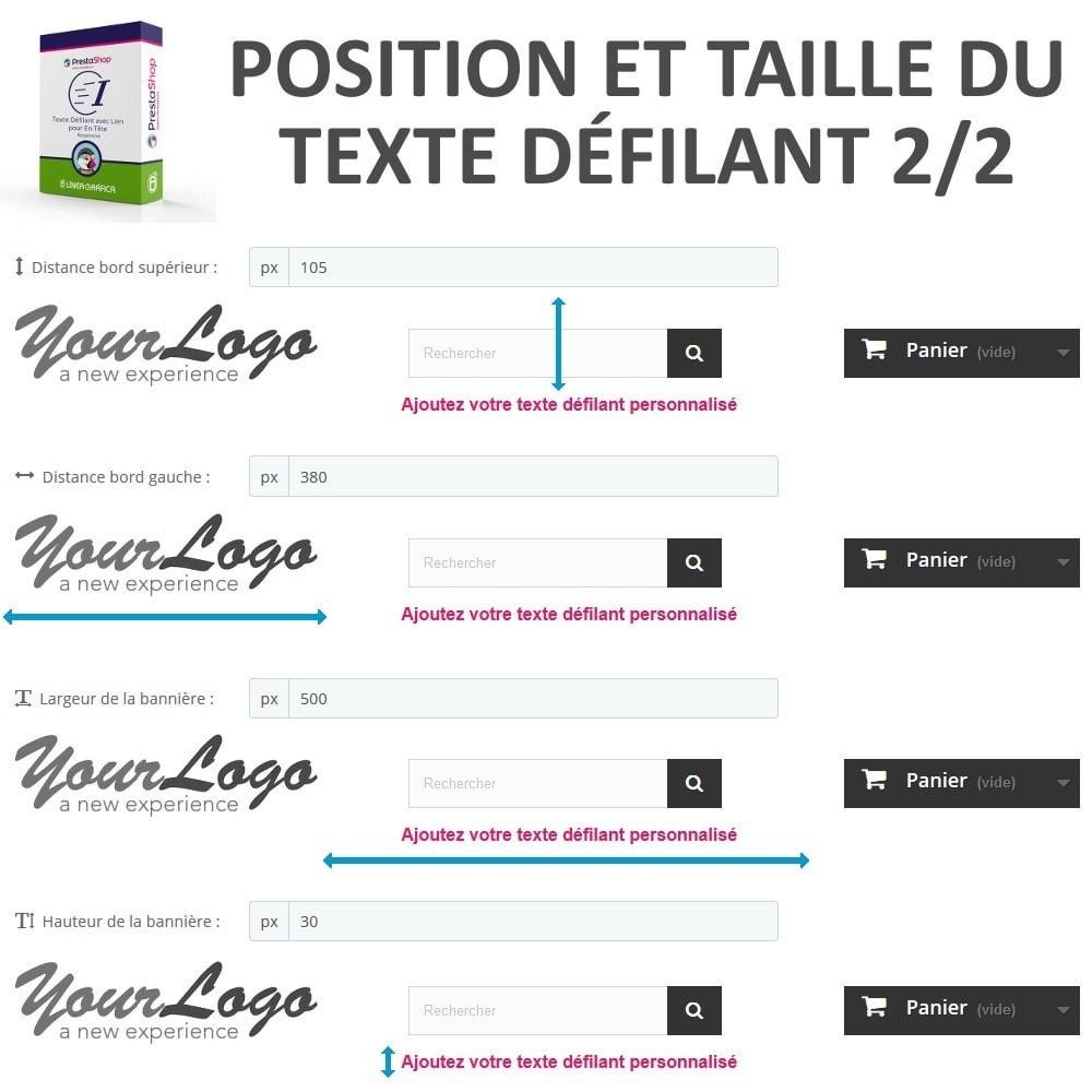 module - Blocs, Onglets & Bannières - Texte Défilant avec Lien pour En-Tête - 6