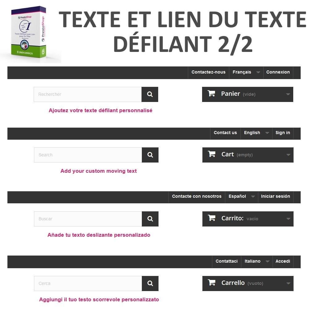 module - Blocs, Onglets & Bannières - Texte Défilant avec Lien pour En-Tête - 8