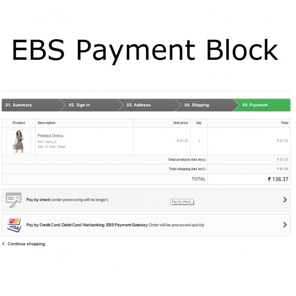 module - Paiement par Carte ou Wallet - EBS Payment Gateway India - 2