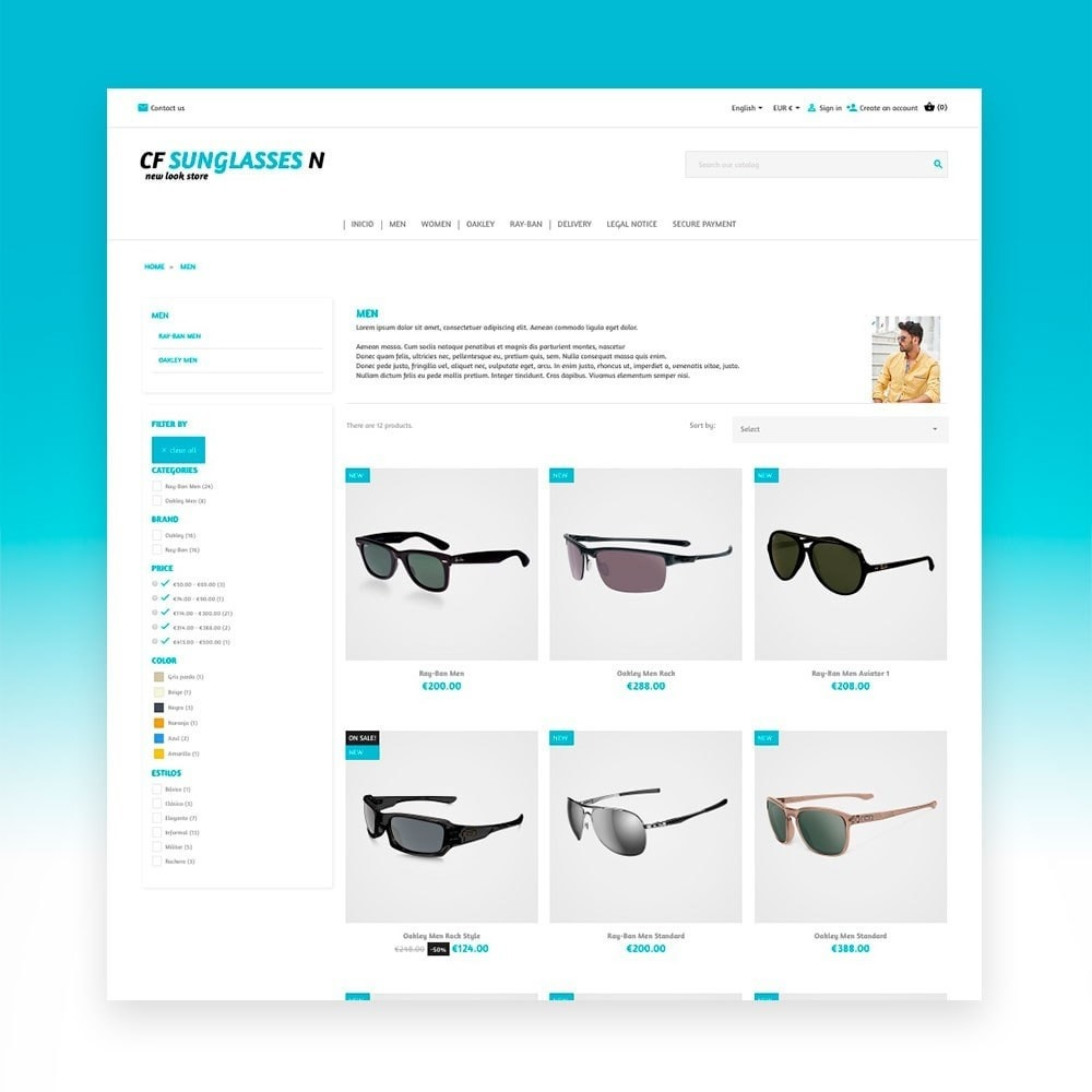 theme - Moda & Calçados - CF Sunglasses N - 5