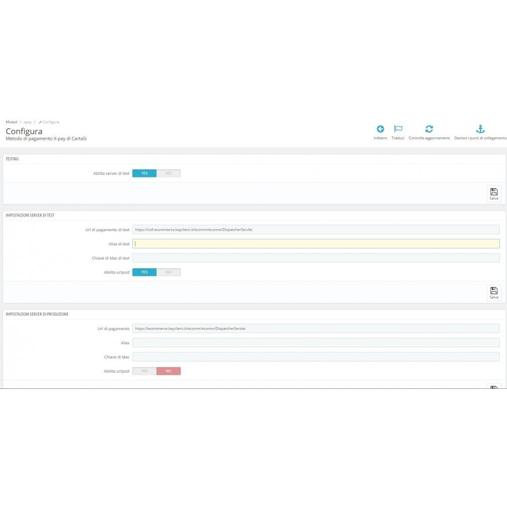 module - Pagamento con Carta di Credito o Wallet - Pos CartaSi Nexi X-Pay - QuiPago Keyclient - Avanzato - 1