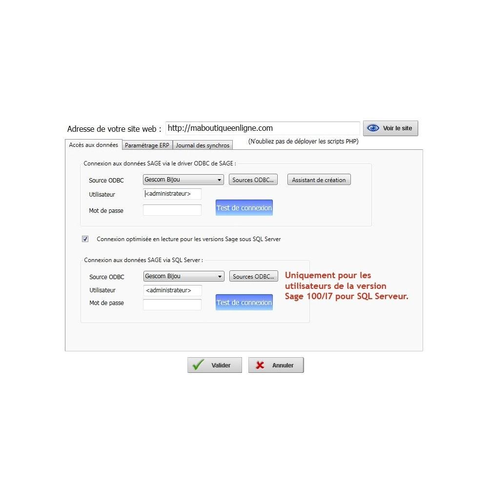 module - Connexion à un logiciel tiers (CRM, ERP...) - XY-Connect Lite Commandes - Sage 100 - 5