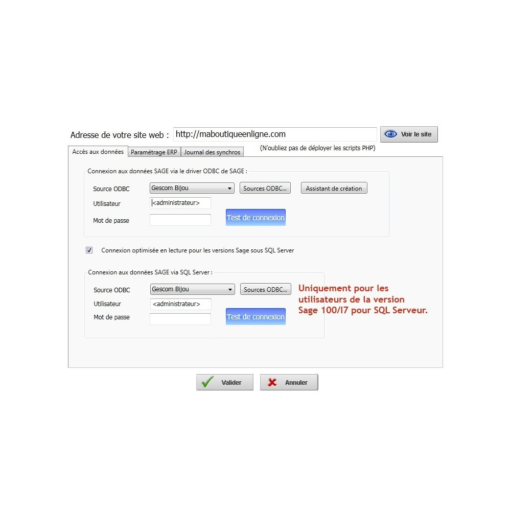 module - Conexão com software de terceiros (CRM, ERP...) - XY-Connect Lite orders - Sage 100 - 5