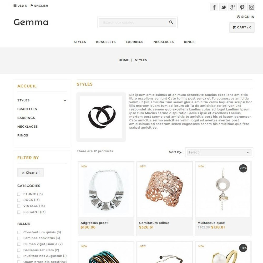 theme - Bellezza & Gioielli - Gemma - 2
