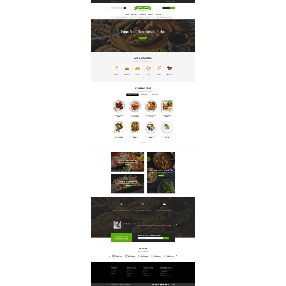theme - Alimentos & Restaurantes - Best Real Food Store - 2