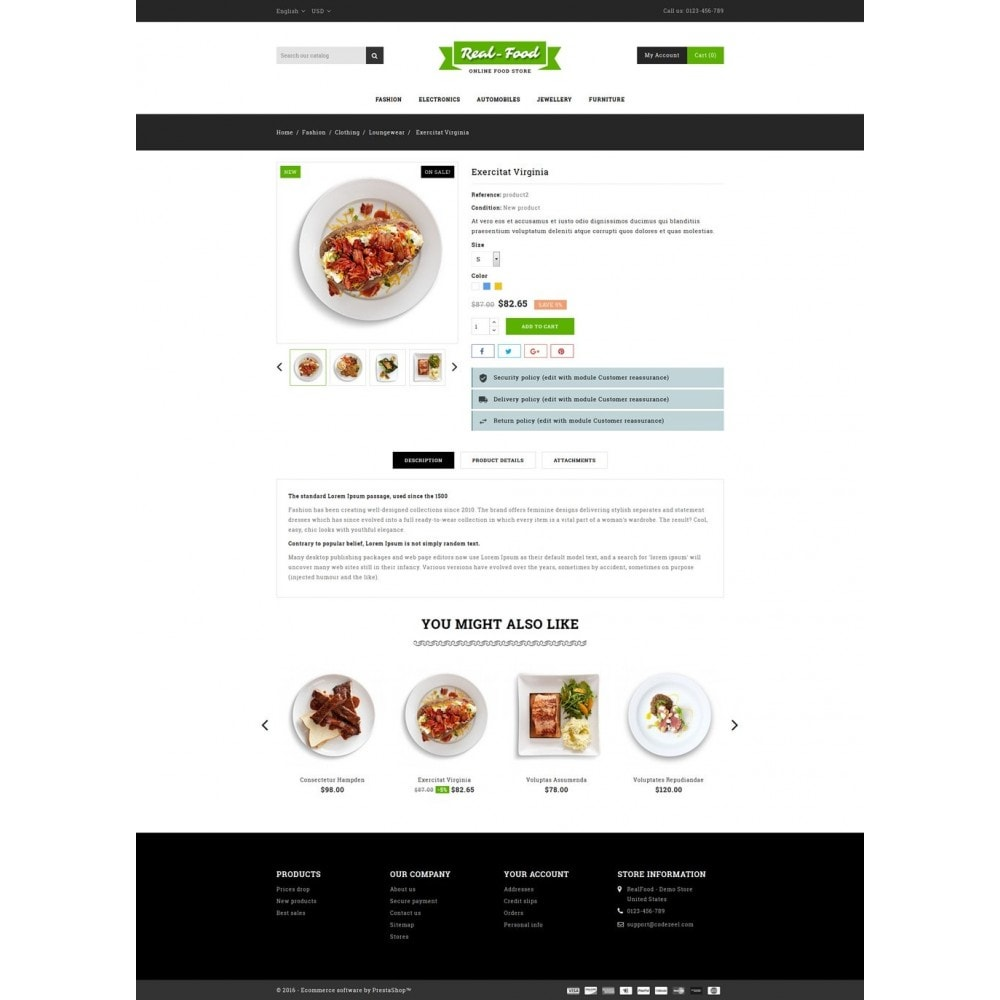 theme - Alimentos & Restaurantes - Best Real Food Store - 5