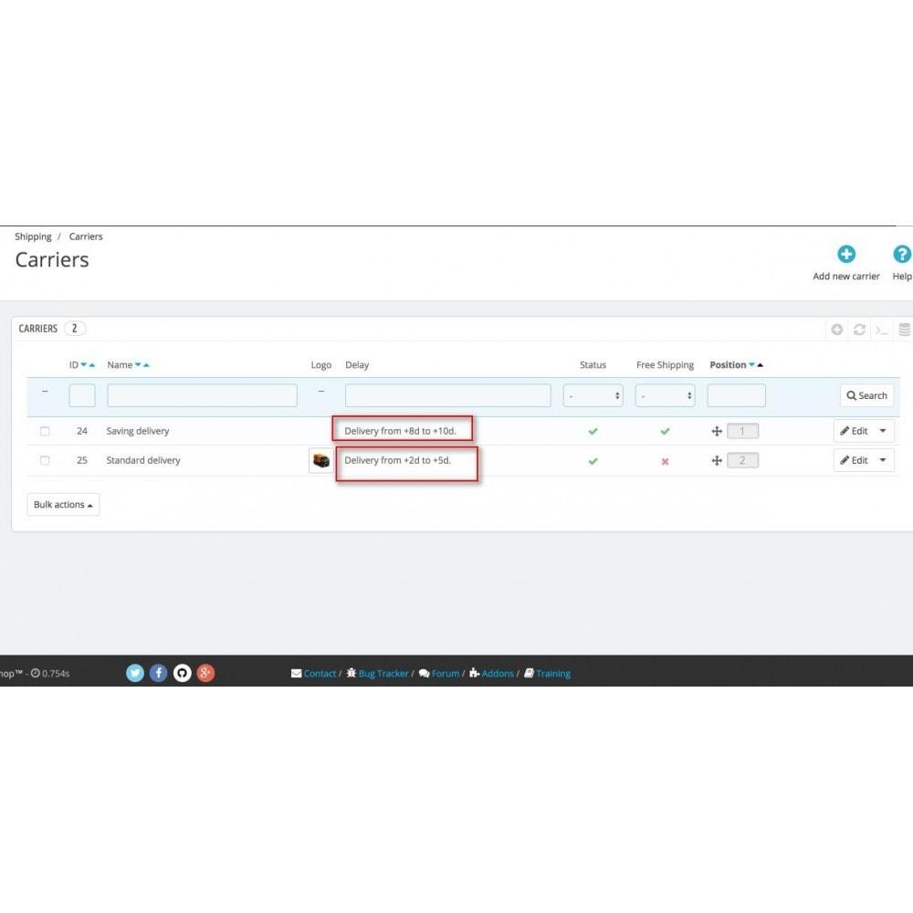 module - Data di Consegna - Smart Date Of Delivery - 3