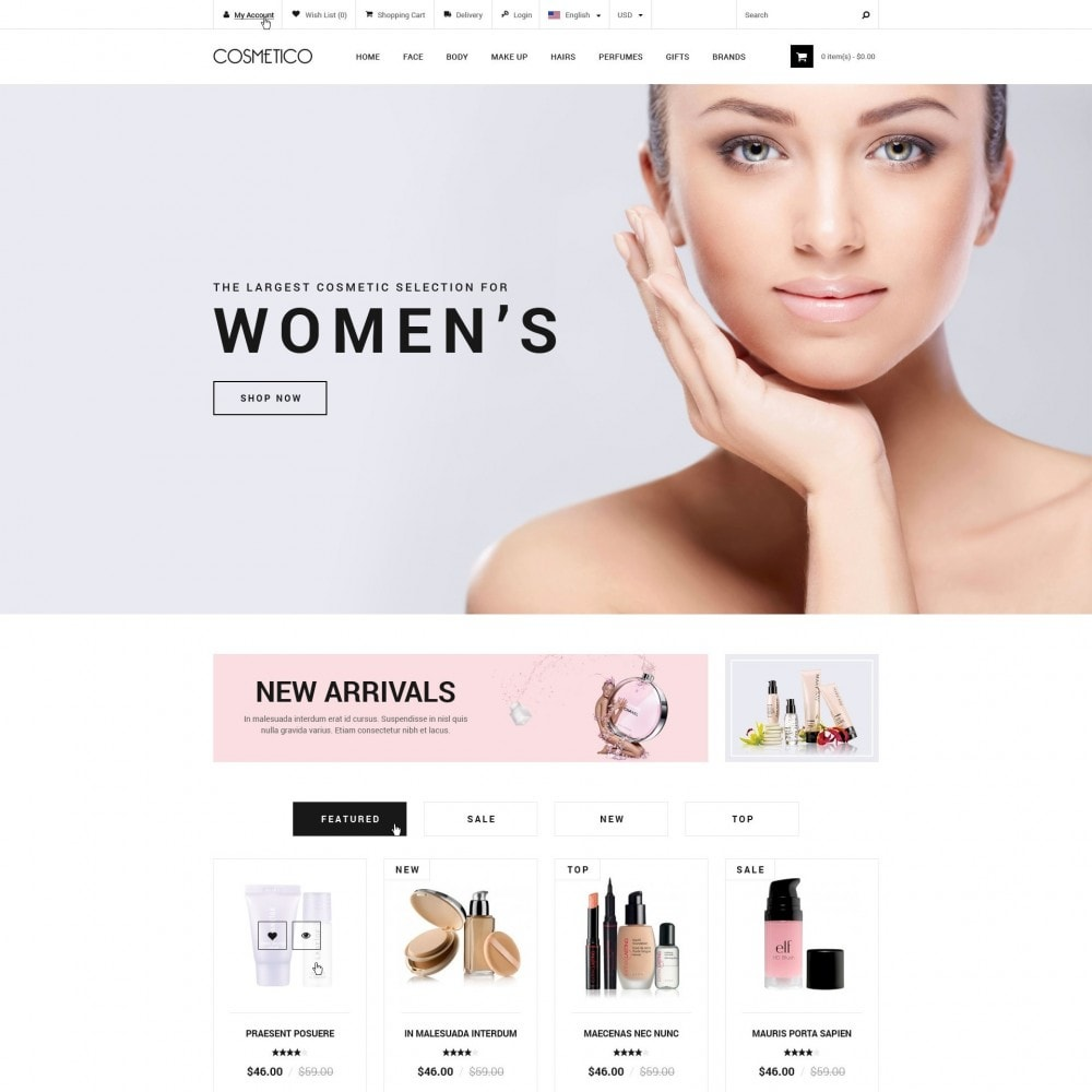 theme - Health & Beauty - Cosmetico - Cosmetics Store - 1