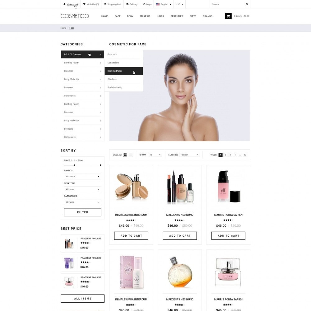 theme - Health & Beauty - Cosmetico - Cosmetics Store - 2
