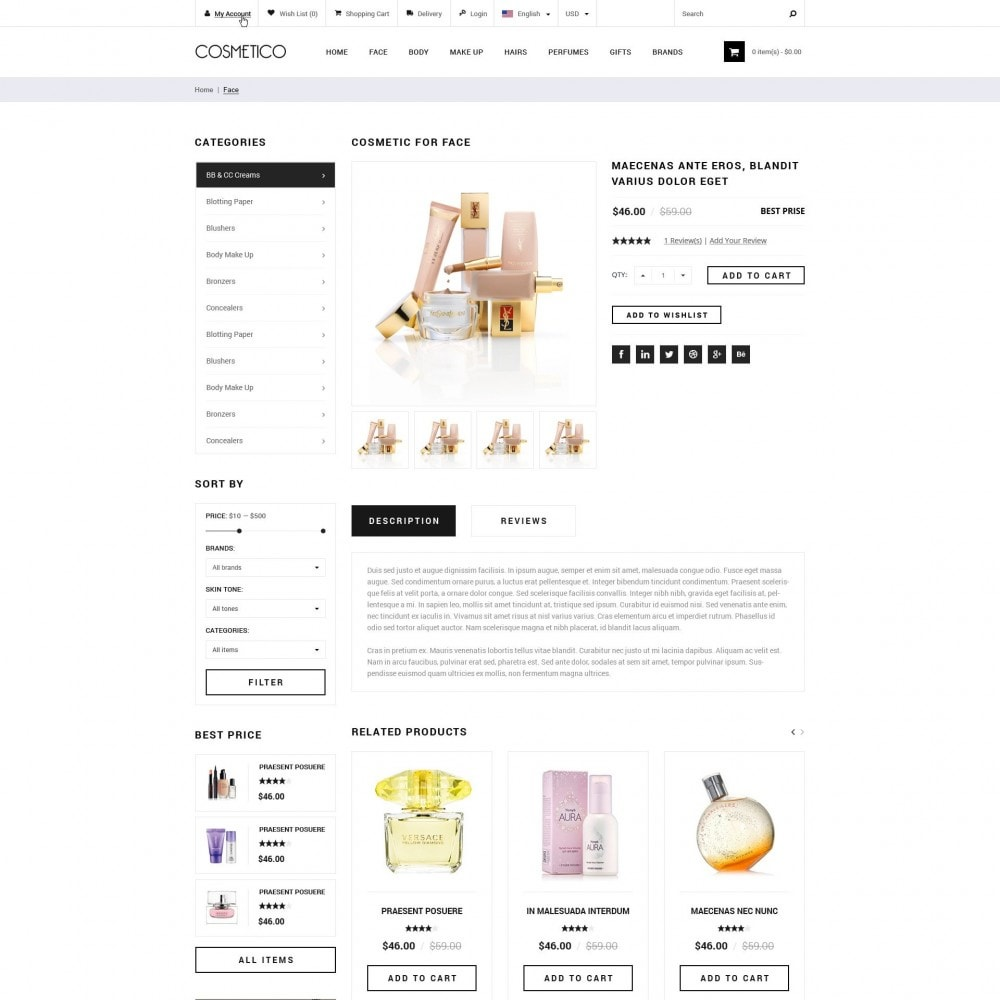 theme - Health & Beauty - Cosmetico - Cosmetics Store - 3