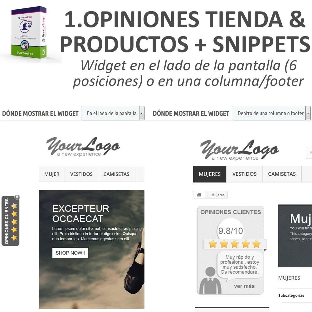 bundle - Comentarios de clientes - Confianza - Tranquiliza a tus Clientes - 3 Módulos - 2