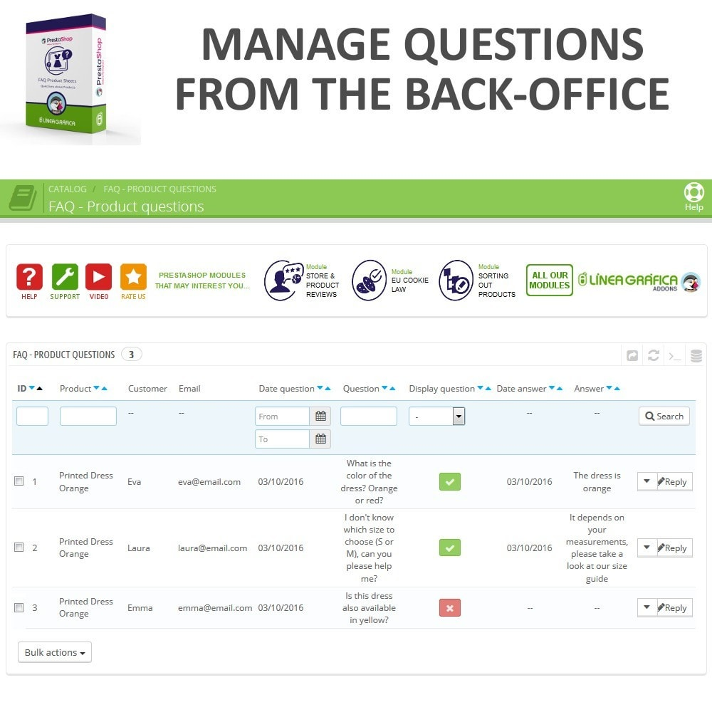 module - FAQ (Frequently Asked Questions) - FAQ Product Sheets - Frequently asked questions - 10