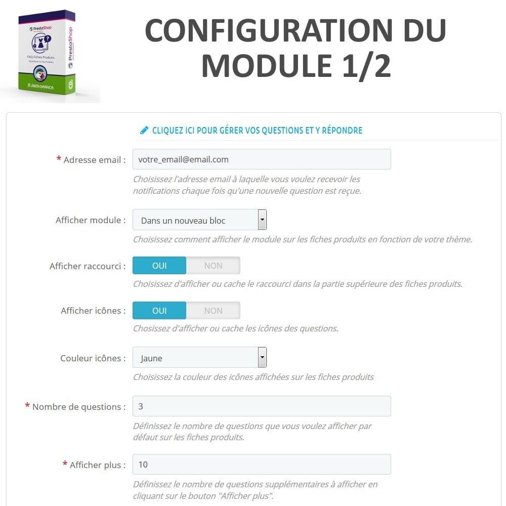 module - FAQ (questions fréquentes) - FAQ Fiches Produits - Foire aux questions fréquentes - 2