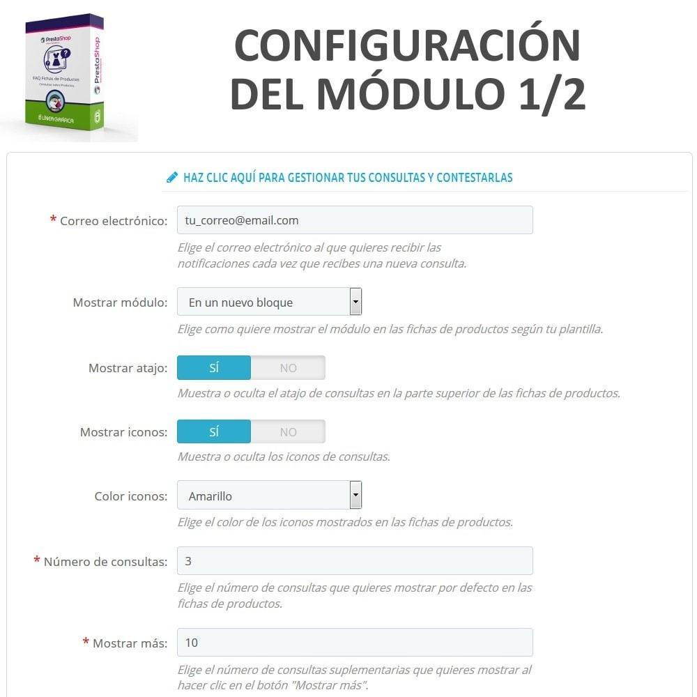 module - Preguntas Frecuentes - FAQ Fichas de Productos -  Preguntas frecuentes - 2