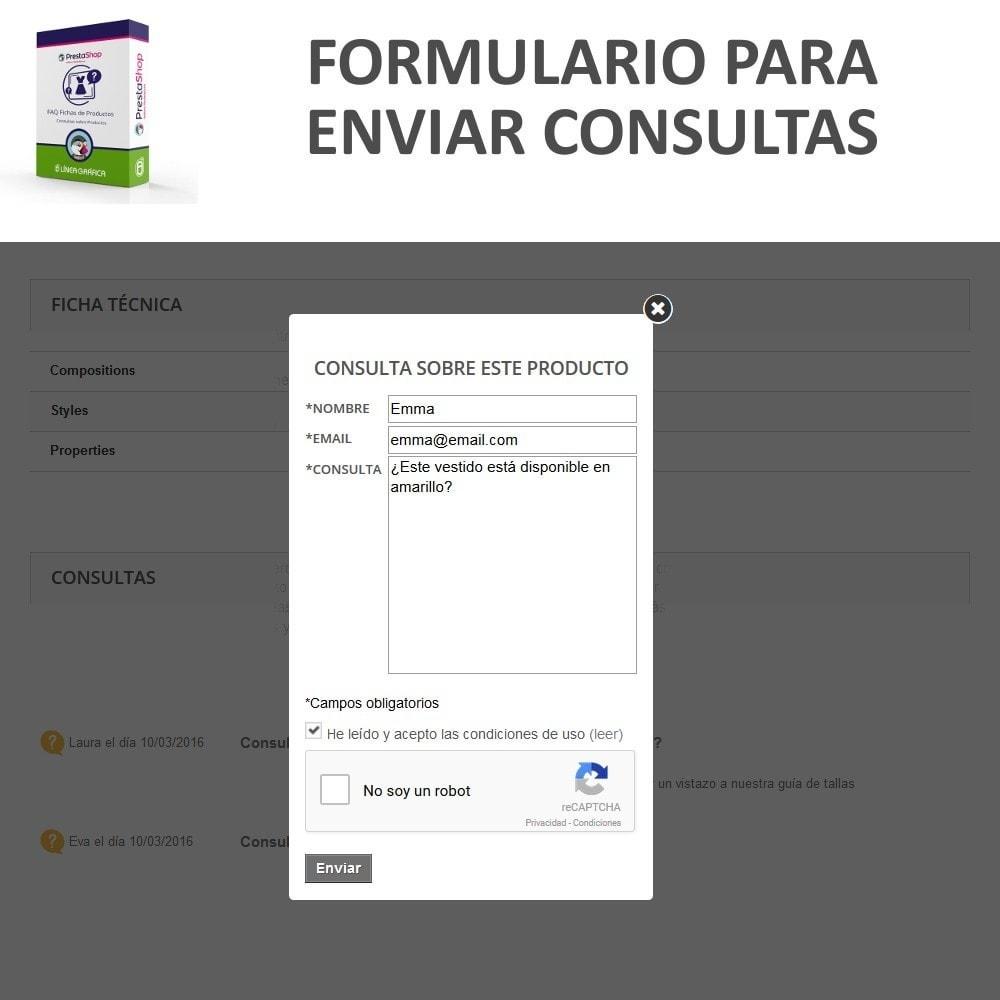module - Preguntas Frecuentes - FAQ Fichas de Productos -  Preguntas frecuentes - 6