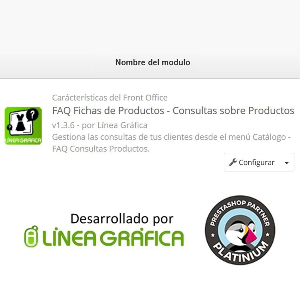 module - Preguntas Frecuentes - FAQ Fichas de Productos -  Preguntas frecuentes - 14