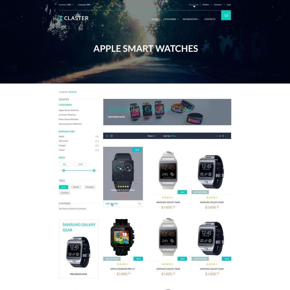 theme - Electronics & Computers - Claster - Smart Watches Shop - 2