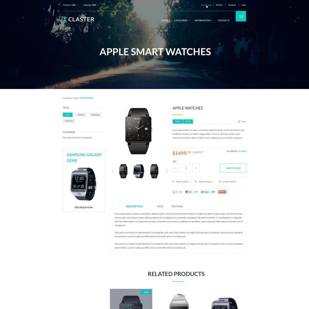 theme - Elektronica & High Tech - Claster - Horloges Shop - 4