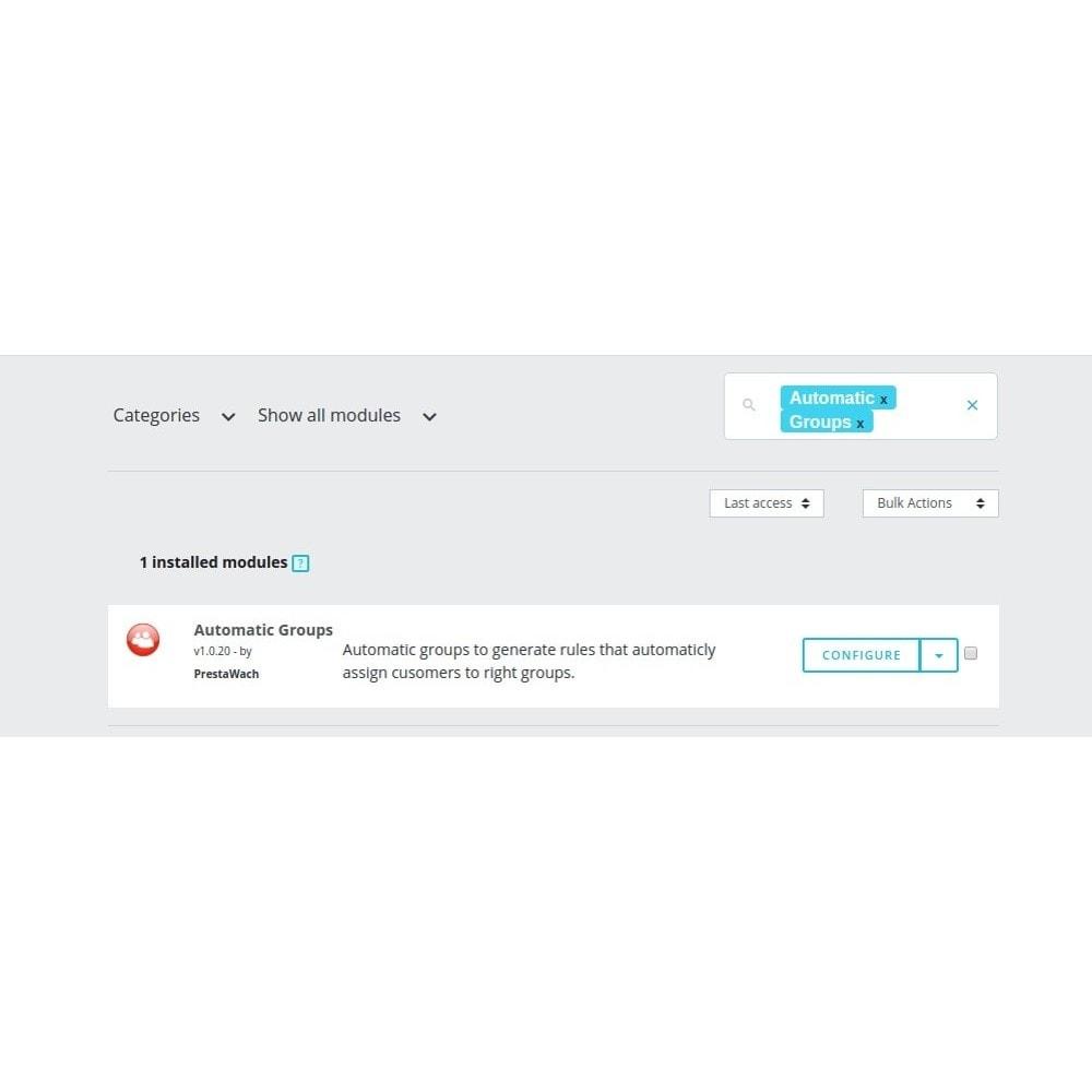 module - Gestión de clientes - AutomaticGroups - 6
