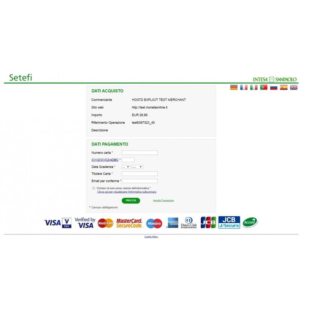 module - Pagamento por cartão ou por carteira - Setefi di Intesa Sanpaolo gateway Advanced Monetaweb - 5