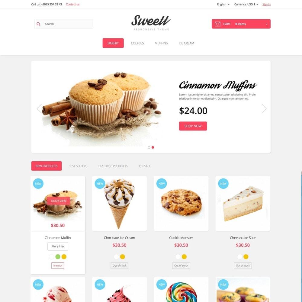 theme - Alimentos & Restaurantes - SWEETT - 2