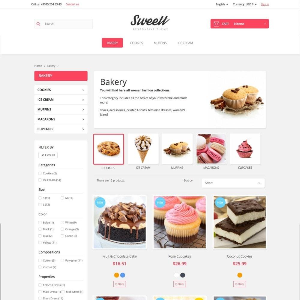 theme - Alimentos & Restaurantes - SWEETT - 4