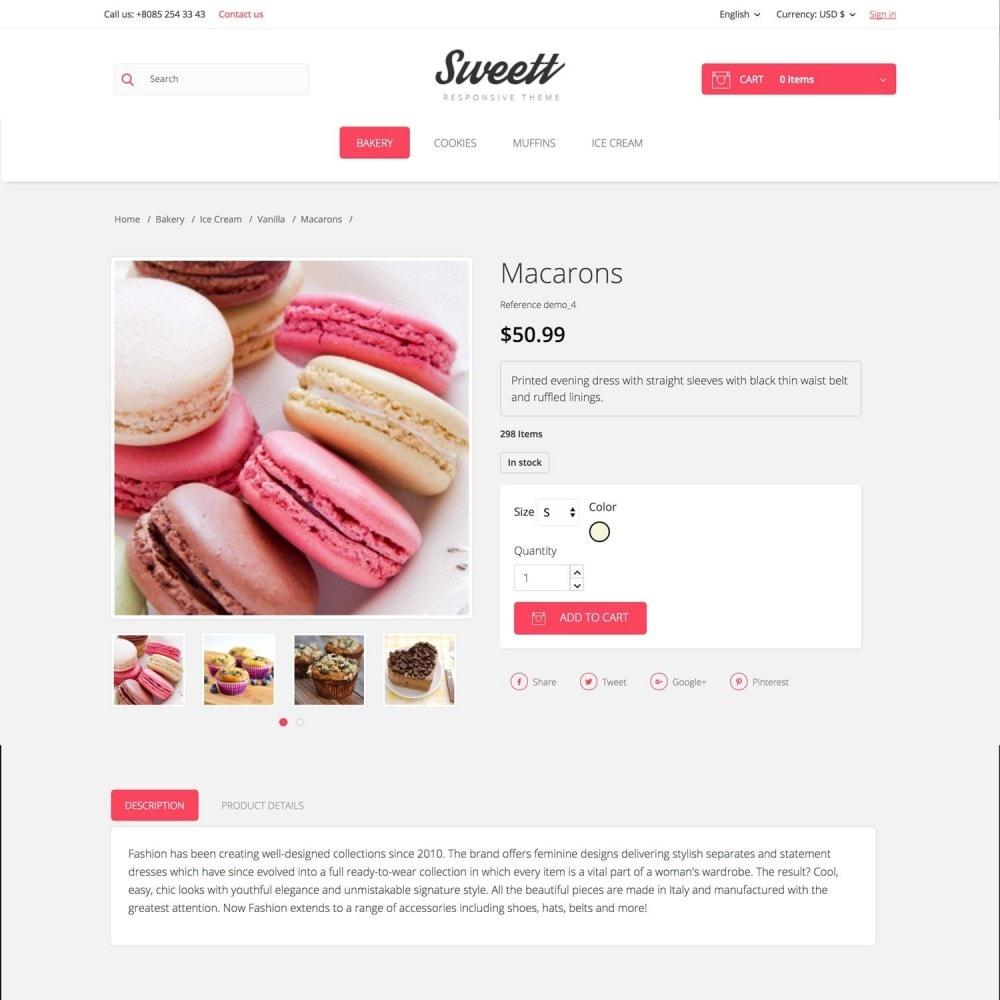 theme - Alimentos & Restaurantes - SWEETT - 5