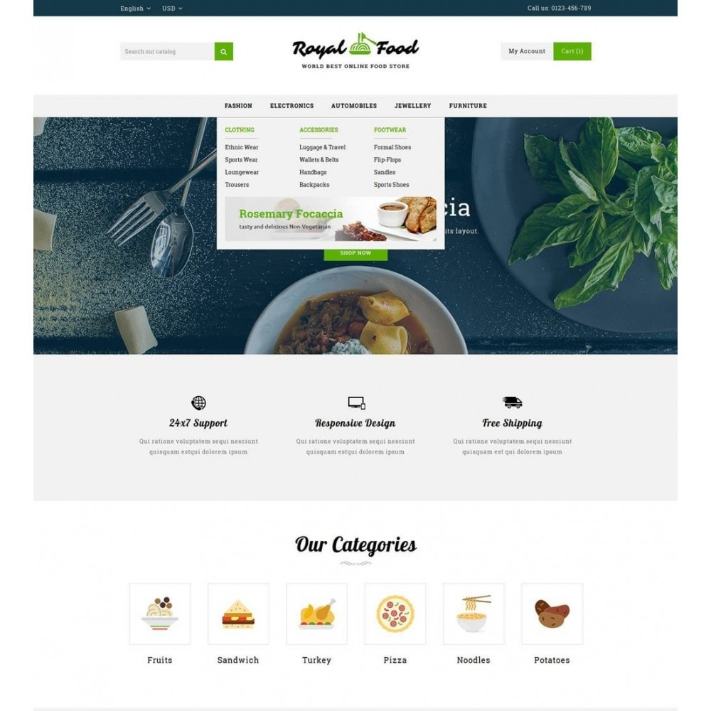 theme - Alimentation & Restauration - Food and Restaurant Store - 6