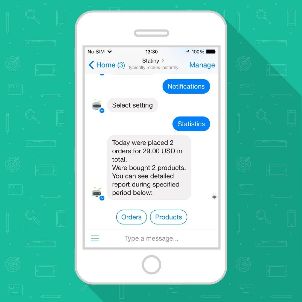module - E-mails & Notifications - Track Store Sales in FB Messenger or Telegram Chatbot - 4