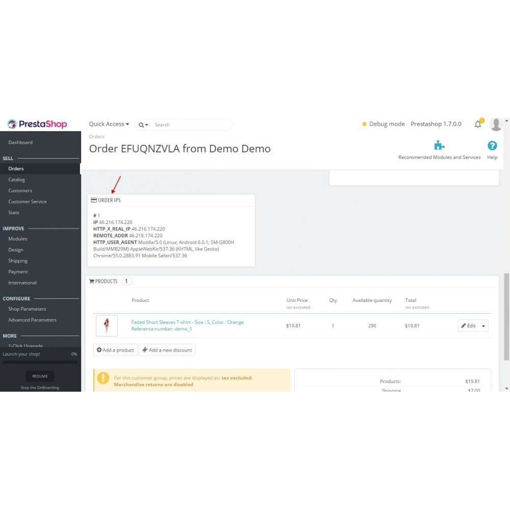 module - Управление заказами - Order IP / User Agent - 2