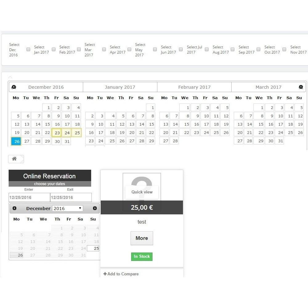 module - Prenotazioni & Noleggi - Booking Calendar - 2