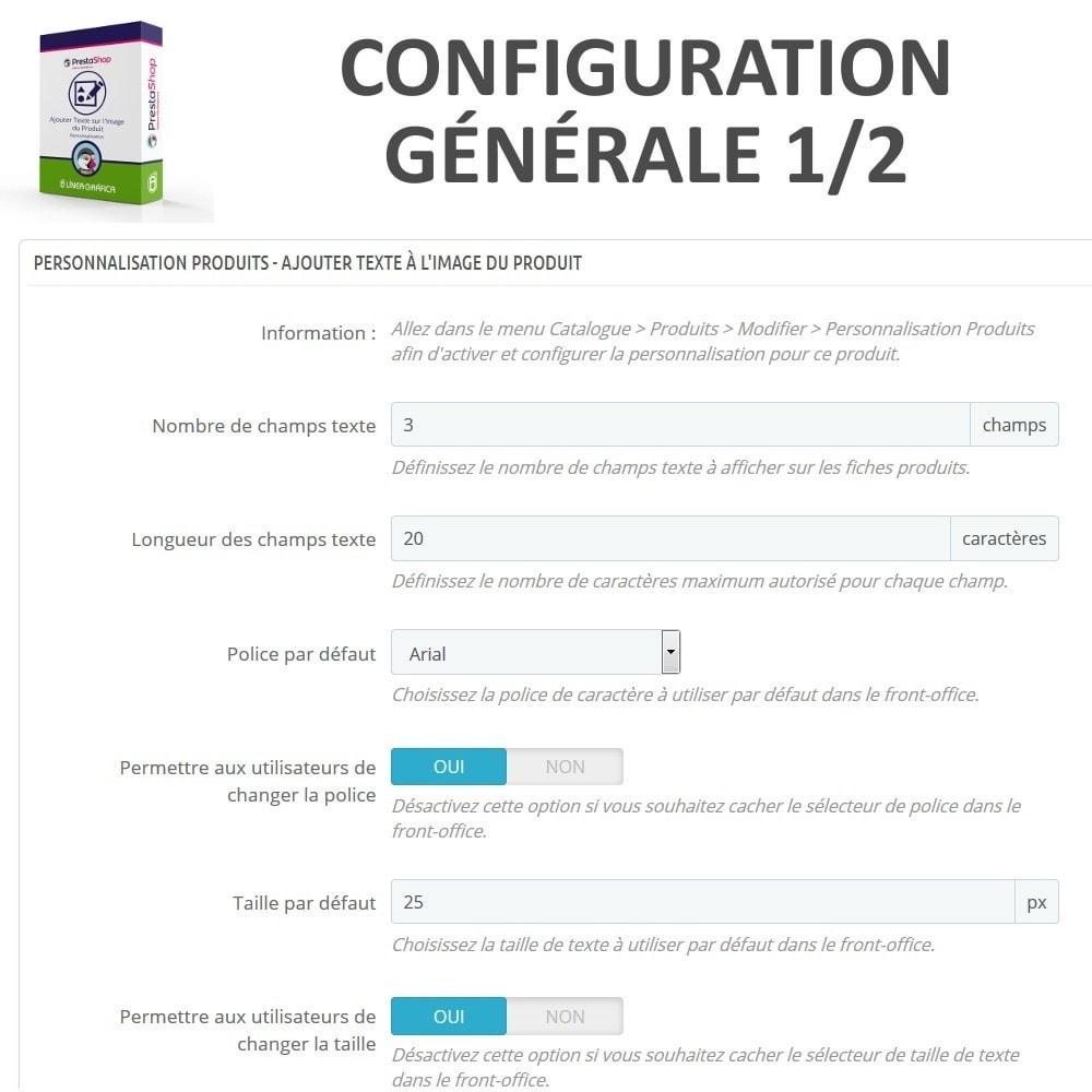 module - Déclinaisons & Personnalisation de produits - Personnalisation Produit - Ajouter du Texte sur l'Image - 4