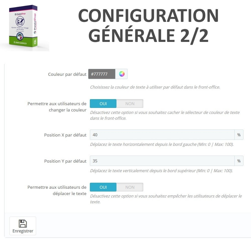 module - Déclinaisons & Personnalisation de produits - Personnalisation Produit - Ajouter du Texte sur l'Image - 5