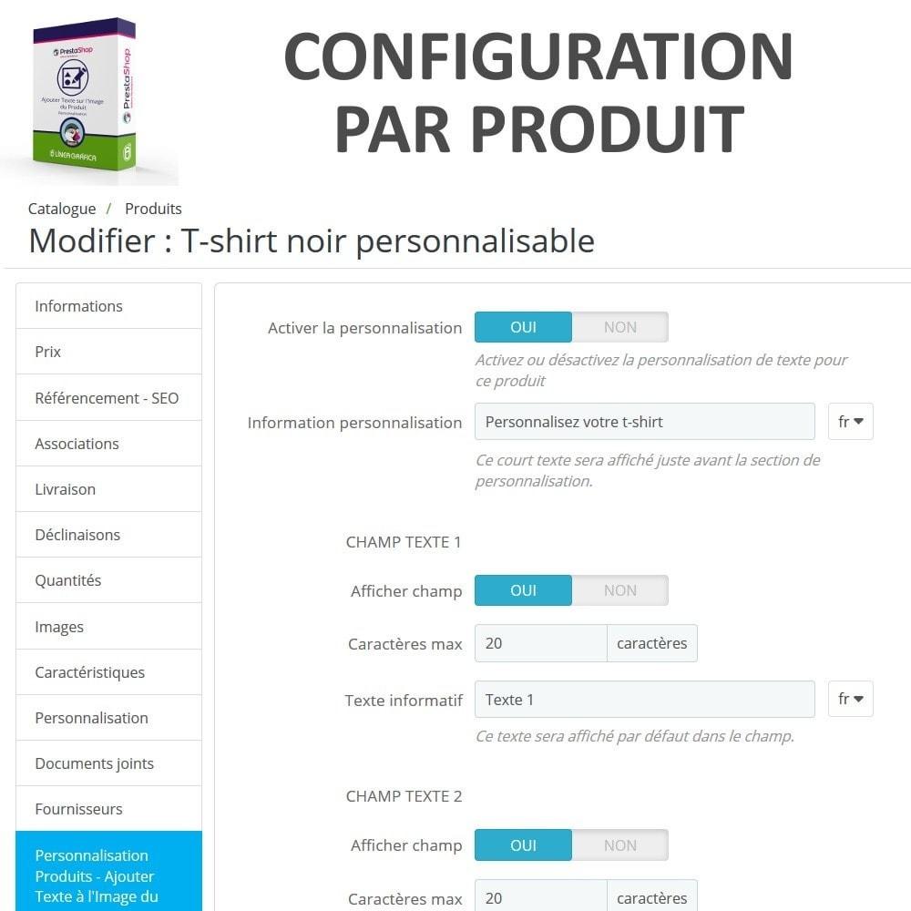 module - Déclinaisons & Personnalisation de produits - Personnalisation Produit - Ajouter du Texte sur l'Image - 6