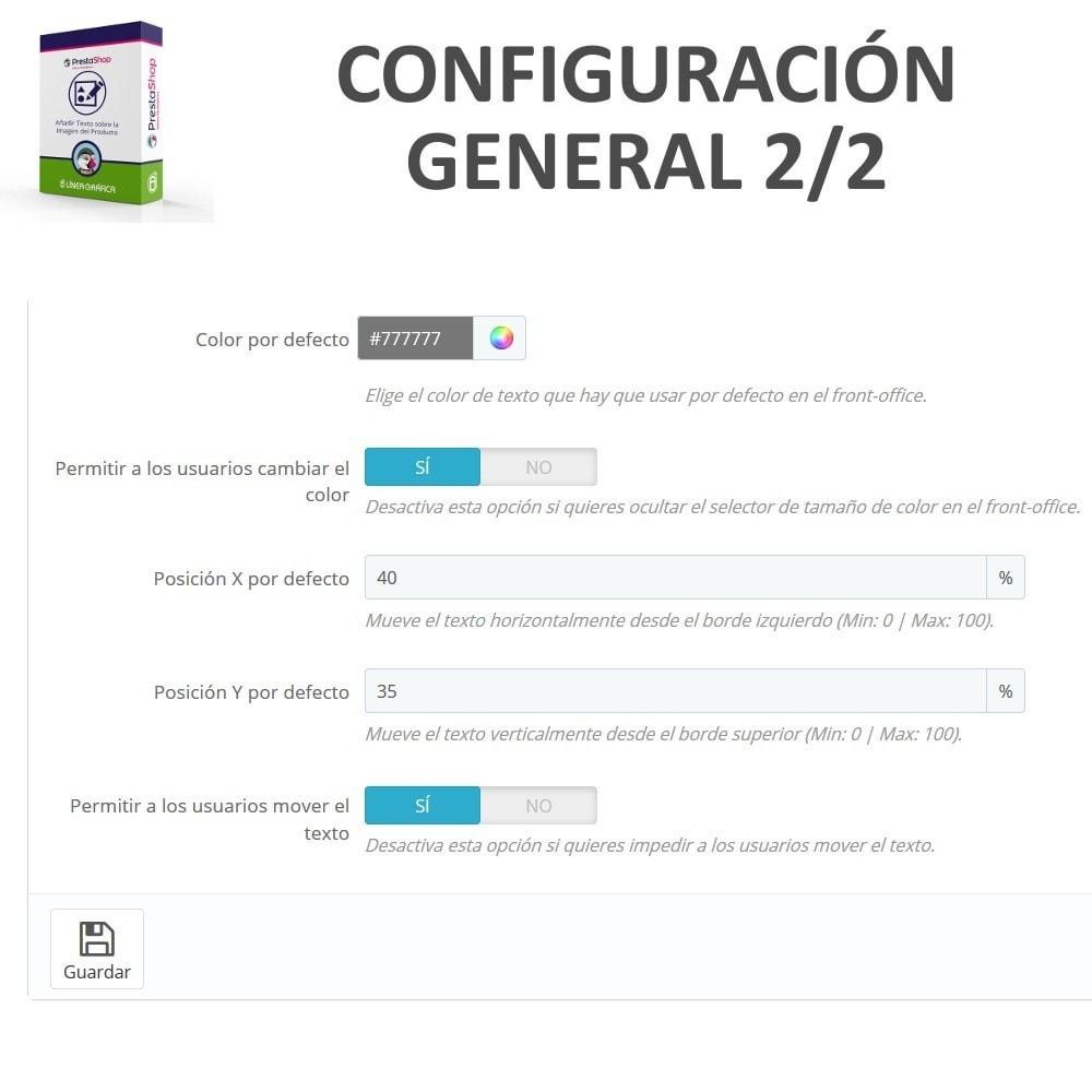 module - Combinaciones y Personalización de productos - Personalización Producto - Añadir Texto sobre Imagen - 5