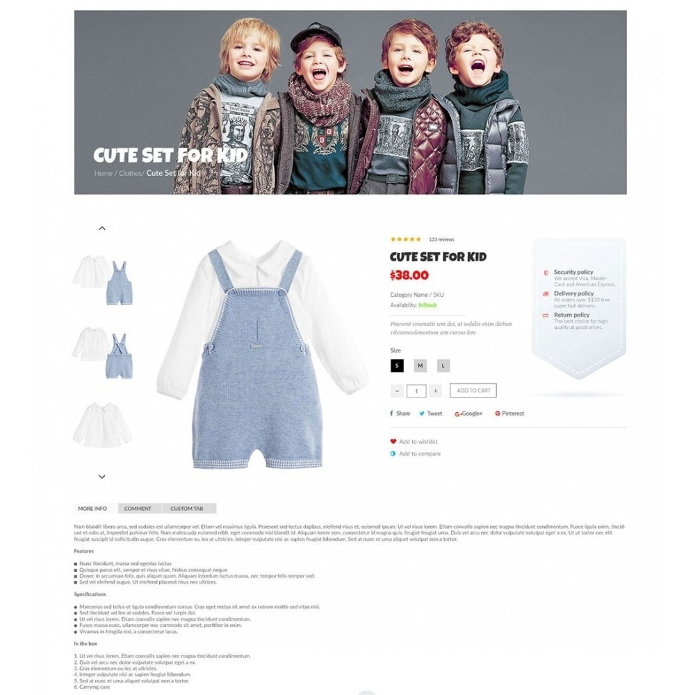 theme - Дети и Игрушки - Kiddies Store - 5