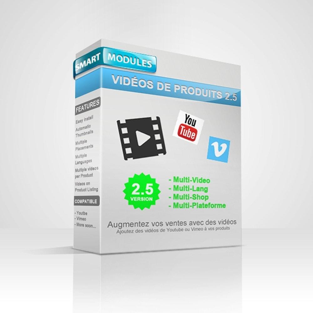 module - Vidéo & Musique - Vidéos pour les produits - Youtube, Vimeo... - 1