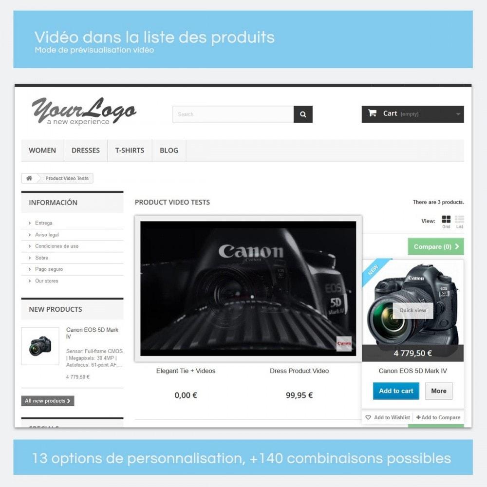 module - Vidéo & Musique - Vidéos pour les produits - Youtube, Vimeo... - 8