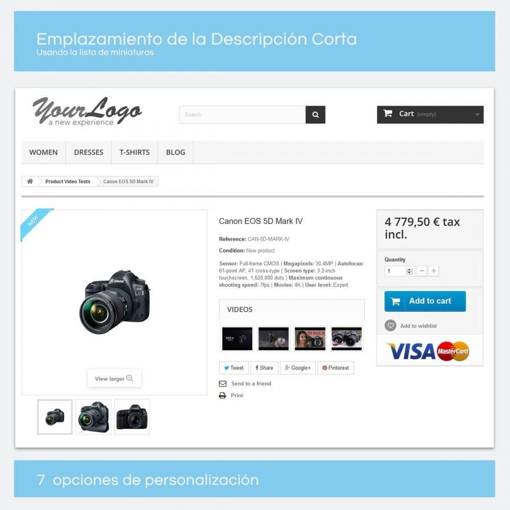 module - Vídeos y Música - Videos para Productos - Youtube, Vimeo... - 5