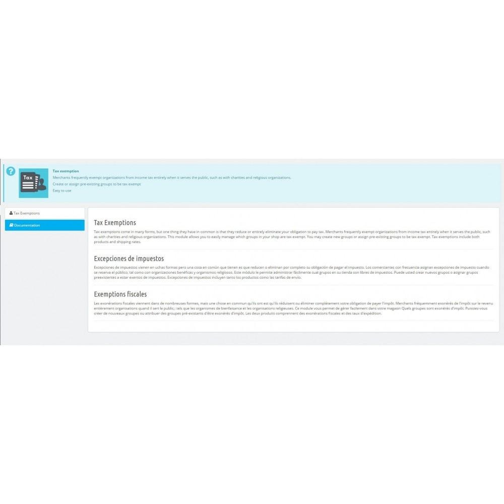 module - Gestión de Precios - Exención de impuestos - 2