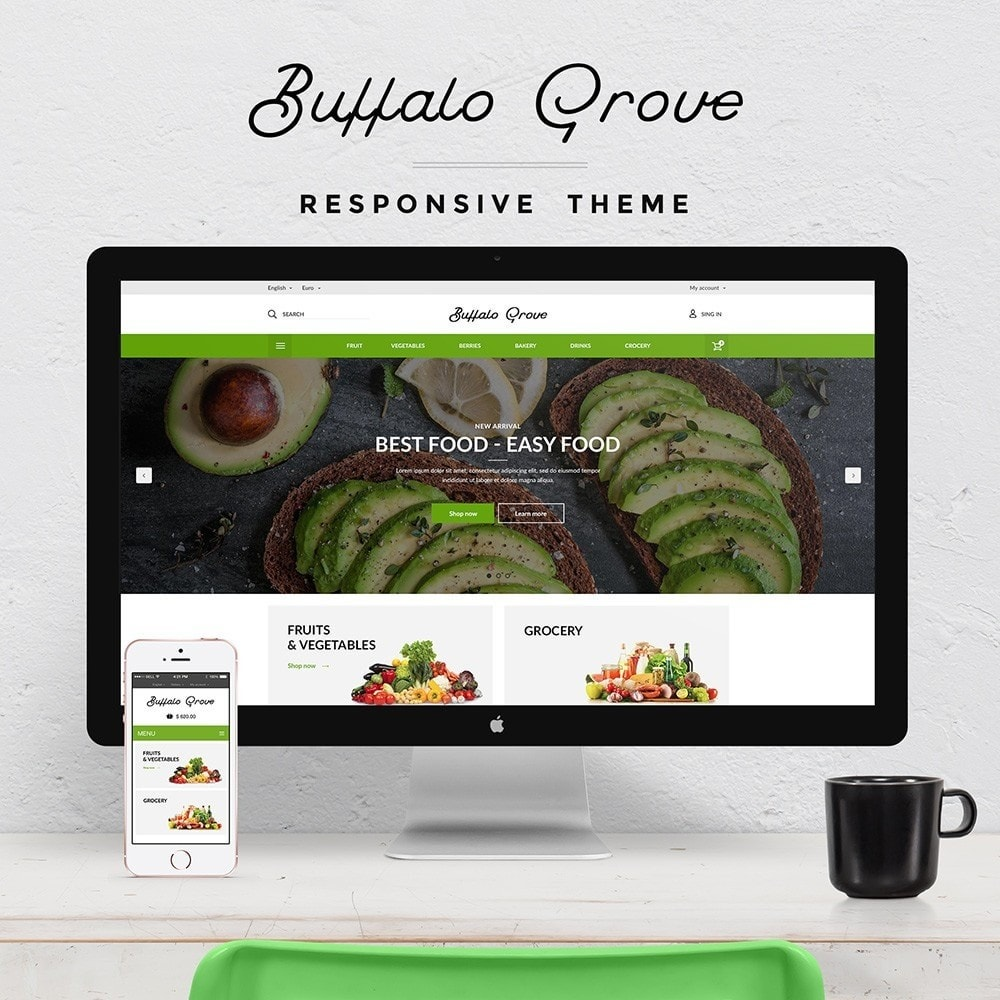 theme - Alimentation & Restauration - Buffalo Grove Food market - 1