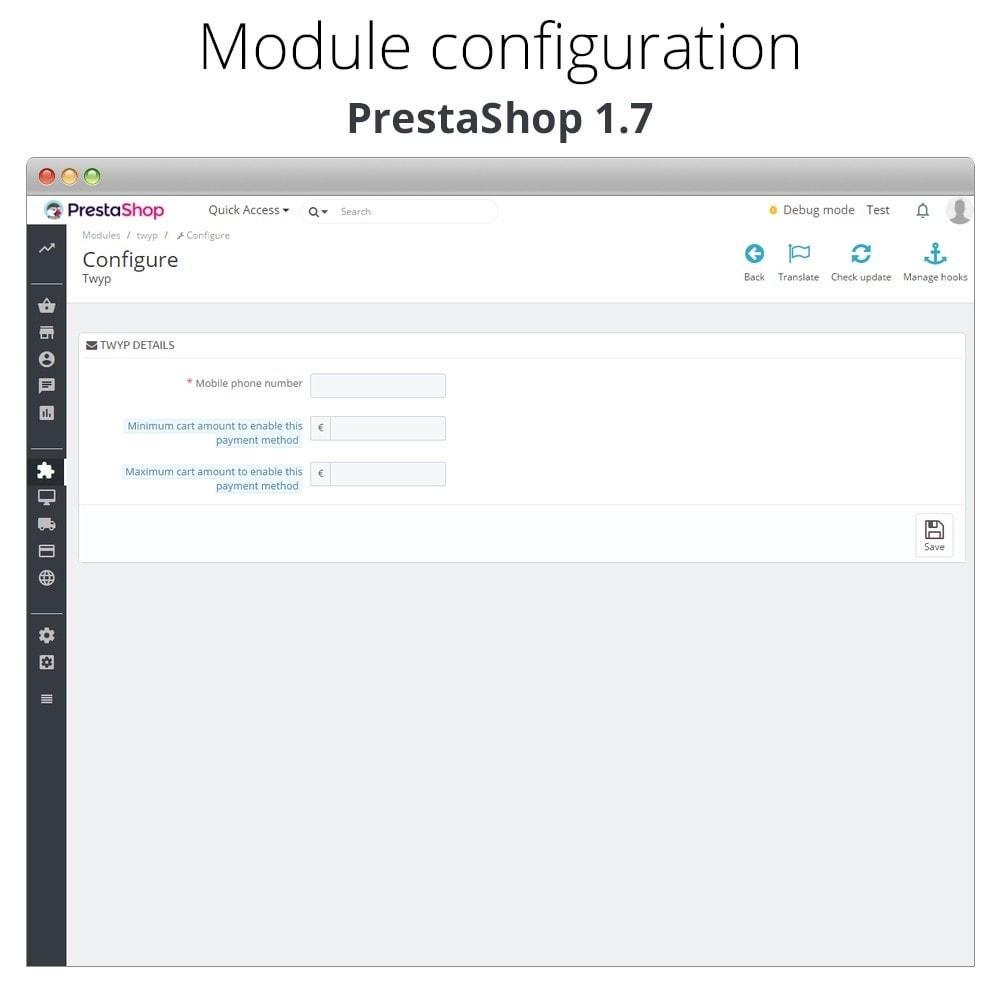 module - Altri Metodi di Pagamento - Twyp - Mobile payment - 2