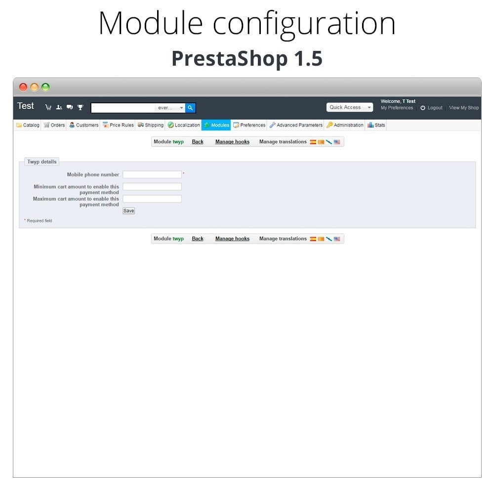 module - Other Payment Methods - Twyp - Mobile payment - 12