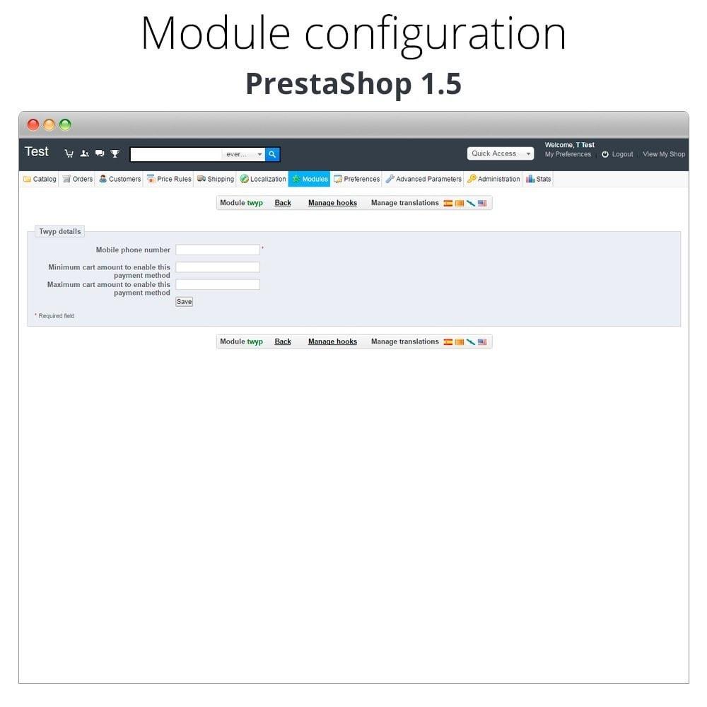 module - Altri Metodi di Pagamento - Twyp - Mobile payment - 12