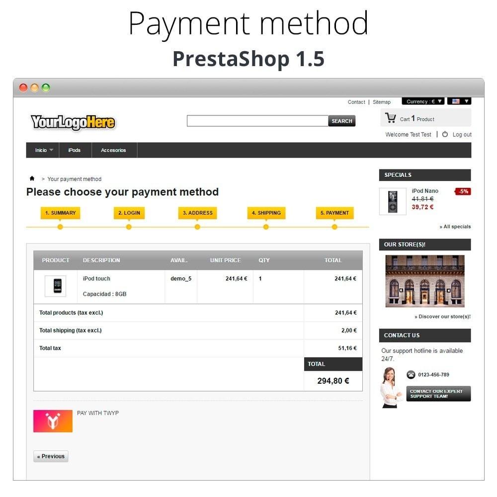 module - Altri Metodi di Pagamento - Twyp - Mobile payment - 13
