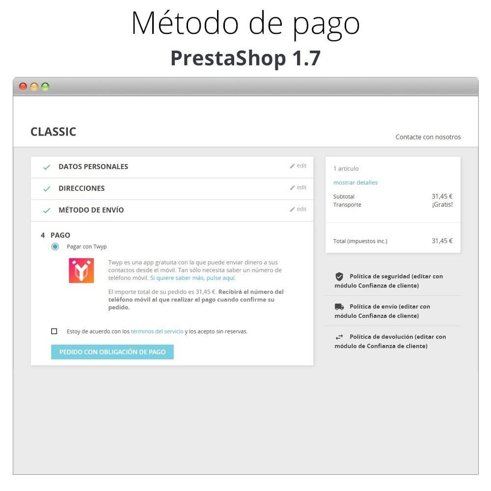 module - Otros métodos de pago - Twyp - Pago con el móvil - 3
