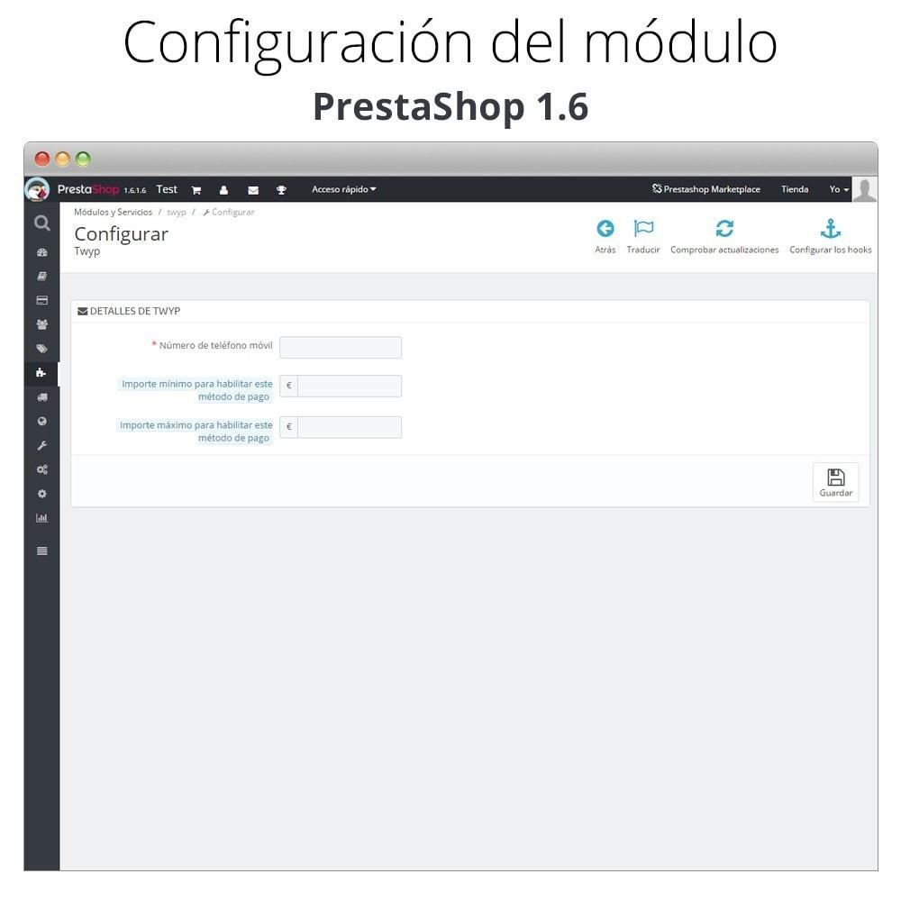 module - Otros métodos de pago - Twyp - Pago con el móvil - 7